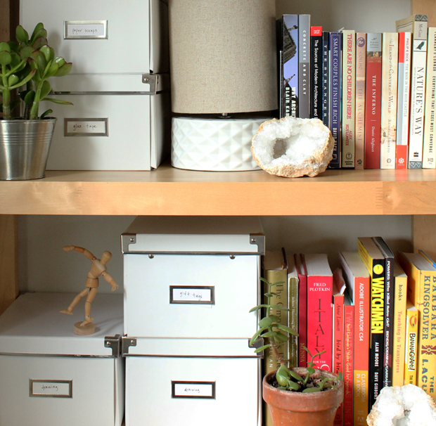 Break Your Own Geode Bookshelf Styling