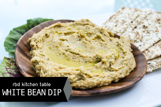 raised by design - white bean dip recipe