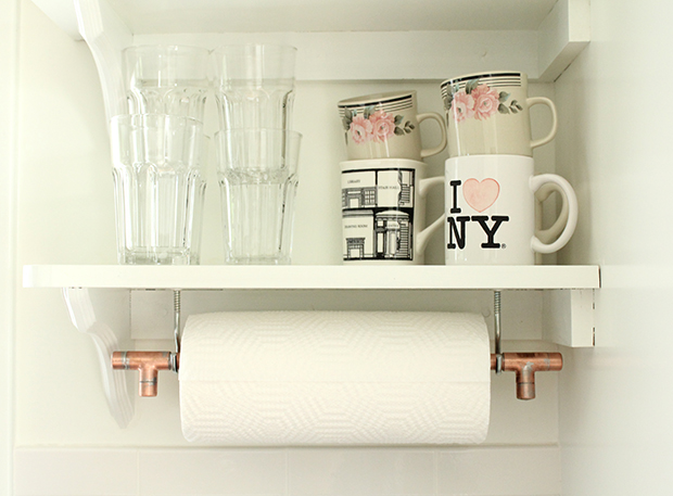 Raised by Design - DIY Industrial Copper Paper Towel Holder