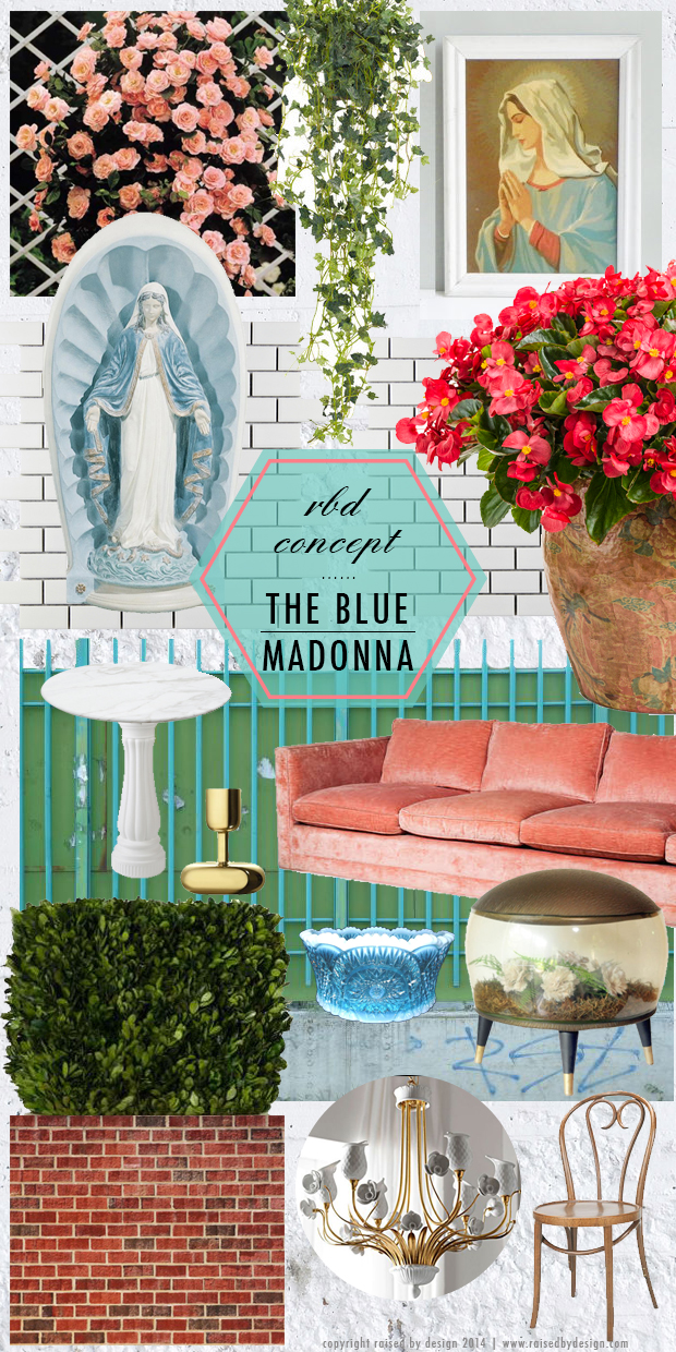 raised by design concept - the blue madonna italian restaurant