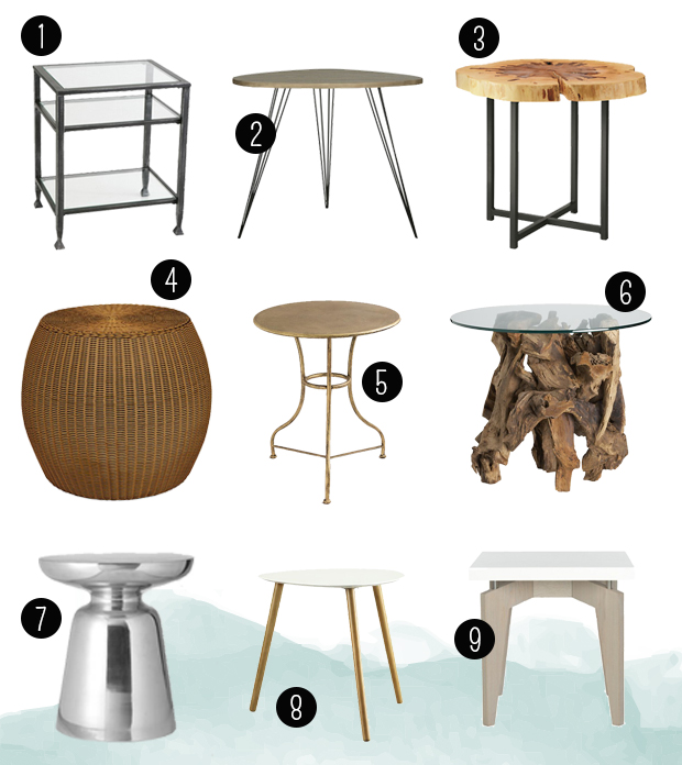 Raised by Design - Joanna and Joe's Tribeca Highrise - End Table Roundup