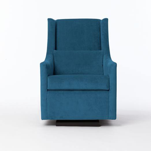 West Elm Graham Glider in Lagoon